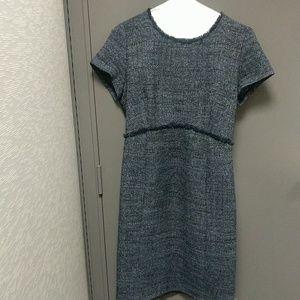 7eda8b2eb4a9f Seraphine Dresses | Navy Blue Boucle Maternity Shift Dress | Poshmark